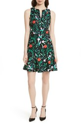 Kate Spade Women's Jardin Tile Stretch Cotton Dress