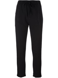 Haider Ackermann Drawstring Cropped Trousers Black