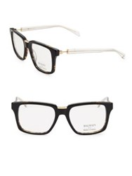 Balmain 59Mm Square Clear Tortoiseshell Eyeglasses Black Tort
