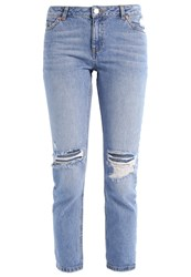 Miss Selfridge Slim Fit Jeans Mid Denim Blue Denim