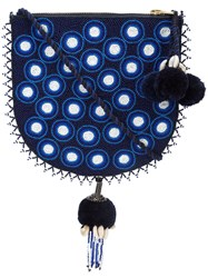 Figue Luna Polka Dot Cross Body Bag Blue