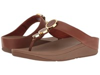 Fitflop Halo Toe Thong Sandals Dark Tan Women's Shoes Brown