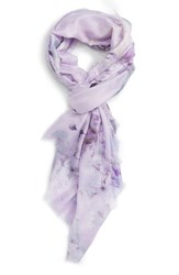 Nordstrom Women's Graceful Hanami Cashmere And Silk Scarf Purple Combo