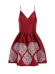 Chi Chi London Regal Embroidered Strappy Party Dress