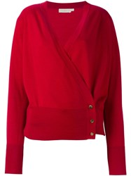 Tory Burch Wrap Cardigan Red