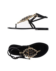 Fifth Avenue Shoe Repair Thong Sandals Black