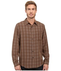 Royal Robbins San Juan Plaid Long Sleeve Shirt Earth Men's Long Sleeve Button Up Brown