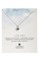 Women's Dogeared 'Love Gem' Semiprecious Stone Pendant Necklace Labradorite Silver