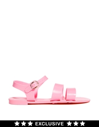 Juju Seven Baby Pink Exclusive Flat Jelly Sandals Babypink