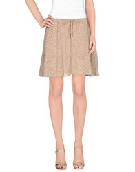 Maison Scotch Mini Skirts Beige