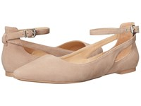 Franco Sarto Sylvia Seppia Suede Women's Dress Flat Shoes Tan