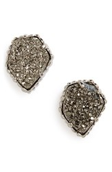 Kendra Scott Women's 'Tessa' Stone Stud Earrings Rhodium Platinum Drusy