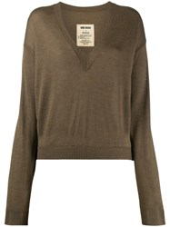 Uma Wang Long Sleeve Fitted Jumper 60