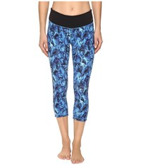 New Balance Premium Performance Capri Print Pants Majestic Feather Camo Women's Capri Blue