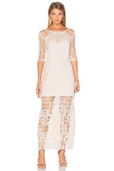 For Love And Lemons Gracey Midi Dress Ivory