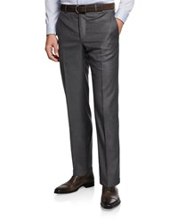 Santorelli 130S Wool Dress Pants Medium Gray