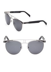 Balmain 54Mm Aviator Sunglasses Black Grey