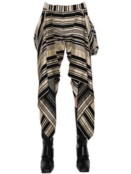 Gareth Pugh Asymmetric And Ruffled Linen Blend Pants