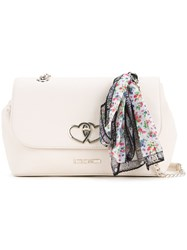 Love Moschino Scarf Detail Shoulder Bag Women Pvc One Size Nude Neutrals