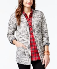 G.H. Bass And Co. Marled Open Front Cardigan