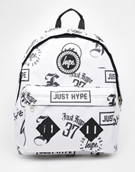 Hype Logos Backpack White