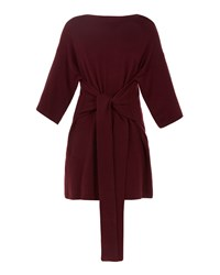 Ted Baker Olympy Tie Front Knitted Tunic Dark Red
