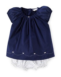 Ralph Lauren Cap Sleeve Cotton Voile Dress W Bloomers French Navy