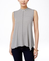 Styleandco. Style And Co. Sleeveless Mock Turtleneck Top Only At Macy's Ivory Black