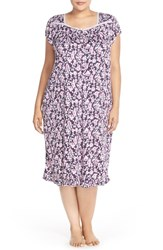 Plus Size Women's Eileen West 'Autumn Rose' Floral Print Short Nightgown