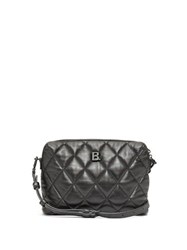 Balenciaga Touch Small B Logo Quilted Leather Cross Body Bag Black