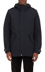 Woolrich John Rich And Bros. Men's Long Military Eskimo Faille Coat Navy