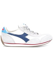 Diadora Panelled Lace Up Trainers White