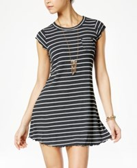 American Rag Striped T Shirt Dress Only At Macy's Egret Combo
