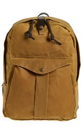 Men's Filson 'Journeyman' Coated Canvas Backpack Brown Tan