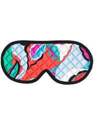 Emilio Pucci Quilted Eye Mask Blue