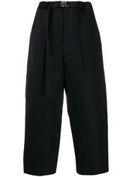 Sacai Classic Cropped Trousers Black