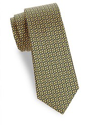 Saks Fifth Avenue Printed Silk Tie Blue