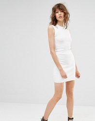 Mango Sleeveless Bodycon Dress White