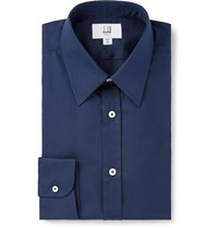 Dunhill Navy Cotton Shirt Blue