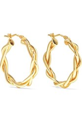 Loren Stewart 14 Karat Gold Hoop Earrings One Size