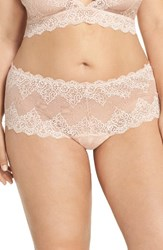 Only Hearts Club Plus Size Women's So Fine Tanga Apricot