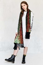 Urban Outfitters Digital Fringed Scarf Assorted
