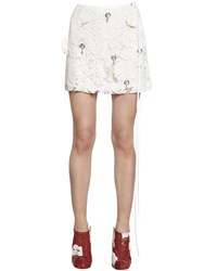 Act N 1 Hand Embroidered Lace Mini Skirt
