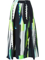 Kenzo Collage Print Midi Skirt Multicolour