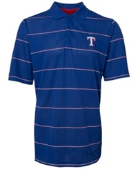 Antigua Men's Short Sleeve Texas Rangers Polo Royalblue Red White