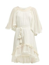 Mes Demoiselles Gregale Crinkled Cotton Dress Ivory