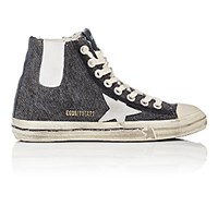 Golden Goose Women's V Star 1 Canvas High Top Sneakers Dark Grey