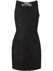 Saint Laurent 'Punk' Floral Lace Dress Black