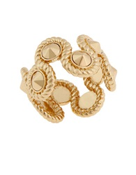 Rachel Zoe 12K Gold Plated Rope Ring