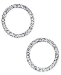 Inc International Concepts Pave Crystal Circle Stud Earrings Only At Macy's Silver